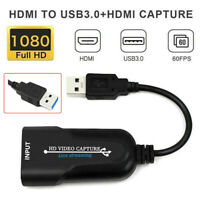 HD 1080P HDMI to USB 3.0 Video Capture Card Recorder Video Live Streaming 60FPS