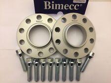 2 x cubo de la Rueda de Aleación Separadores 15 mm bimec + 10 X M12X1.5 Plata Pernos Mercedes 66
