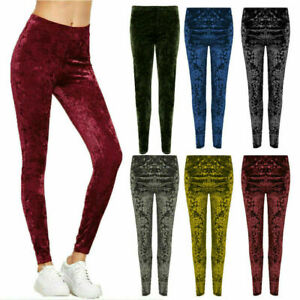 New Ladies Plus Size Leggings Womens Velvet Bottoms Full Length Soft Nouvelle