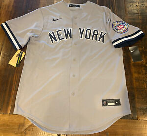 2020 Hall Of Fame Patch Derek Jeter New York Yankees Authentic Jersey Size Med