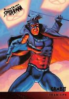 GAMBIT / Spider-Man Fleer Ultra 1995 BASE Trading Card #117