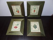 Giovanni Morello Framed Reproductions of Vegetable Watercolor Paintings Set of 4