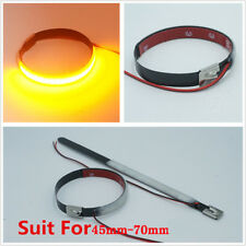 1 Pair Mtorcycle Turn Signal Light Universal For 45mm-70mm Fork Smoked Lens LED