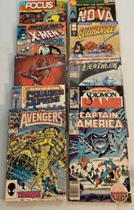 Lot of 22 DC & Marvel Books Avengers 257 1st App Nebula, Spider-Man, Dawn, X-Men