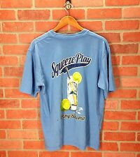 Tommy Bahama Relax L Large Squeeze Play Blue Cocktail T-Shirt Baseball Bat Limes