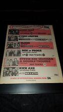 Stevie Ray Vaughan, Cyndi Lauper, Slade Rare Radio Promo Poster Ad Framed!