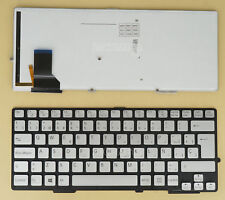 NEW for SONY Vaio SVS13 SVS13A Keyboard Spanish Teclado NO Frame Silver Backlit