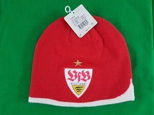 M/ütze Emblem VfB Stuttgart Wendebeanie grau schwarz Beanie Winterm/ütze L