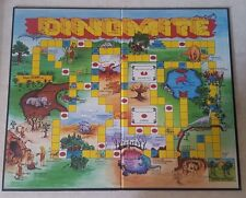 1988 DINOMITE DINOSAURS GAME BOARD REPLACEMENT PARTS CRAFTS DECOR PARTY