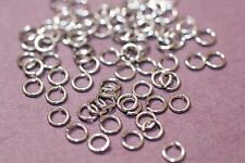 300 Silver Stainless Steel 4x.07mm Jump rings 1-3 day Shipping
