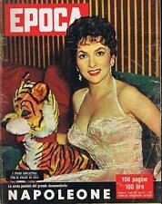 RIVISTA EPOCA N° 340/1957 GINA LOLLOBRIGIDA