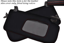 RED STITCH FITS SUBARU IMPREZA WRX STI 2001-2004 2X SUN VISORS LEATHER COVERS
