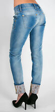 """""""MET""""JEANS K-Fit Gold  low waist/ detail bottom. Sizes:28/30 US.Made in Italy"""