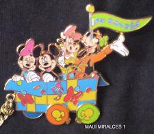 Disney Rare DLRP Caboose Minnie Mickey Goofy Paris Train HTF LE Pin