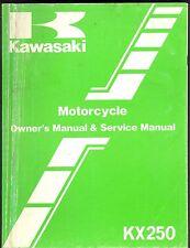 1985 KAWASAKI KX250 MOTORCYCLE OWNER`S MANUAL & SERVICE MANUAL / KX 250-D2