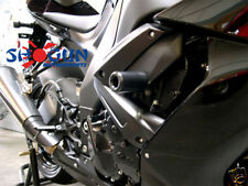 Kawasaki 2008-2010 ZX10R ZX10 Shogun Racing Frame Sliders Cut Version Black