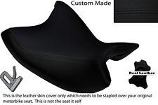 BLACK STITCH CUSTOM FITS HONDA NC 700 X 12-14 FRONT LEATHER SEAT COVER