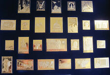 Collection of  25 U.S. Postage Stamp Ingots Pure .999 Silver
