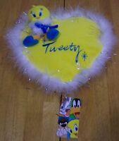 WB Looney Tunes TWEETY BIRD ON HEART BAG Pillow Plush Stuffed Toy NEW