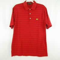 Amen Corner Masters Mens Red Stripe Golf Polo Shirt Pima Cotton Size M Augusta