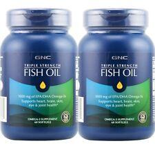 GNC Triple Strength Fish Oil 1000mg - 60 Softgels