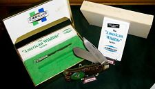 "Camillus 10F Knife American Wildlife ""Bugling Elk"" USA Made W/Packaging,Papers"