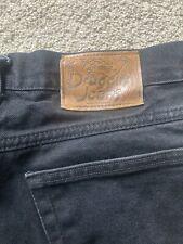 Draggin Jeans Mens Denim Kevlar Padded Size 32 X 32 Made In USA BLACK
