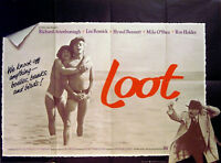 LOOT 1970 Lee Remick, Richard Attenborough, Hywel Bennett UK QUAD POSTER