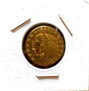 1910-E $5 Indian Head Pre-33 Gold Eagle AU 55