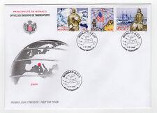 MONACO FDC timbres oblitérés 2008 centenaire de l'expédition R. E. Peary /B1FDC