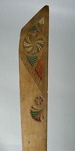 Rare   old antique  Jewish Carved wood Torah page marker Judaica