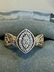 1.66 Ct Diamond 14K Yellow Gold Over Vintage Art Deco Wedding Antique Ring