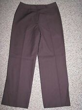 NIPON BOUTIQUE PETITE WOMEN'S BROWN LINED WOOL BLEND STRETCH PANTS 8 INSEAM 29