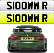 SLOW SLOWER RR SARCASTIC CHEEKY NAUGHTY ROLLS ROYCE  AMG PRIVATE NUMBER PLATE