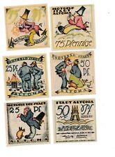 Altona Notgeld 6 Scheine. Los 1617. schoeniger-notgeld