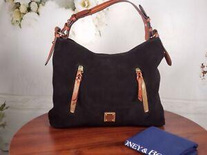 Dooney & Bourke Suede Leather Cooper Hobo Bag - Black