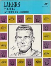 1968 Los Angeles Lakers Vs New York Knicks In The Forum Official NBA Program