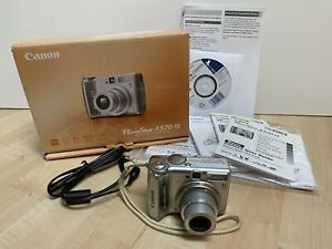 Canon PowerShot A570 IS 7.1MP Digital Camera 4x Optical Zoom TESTED WORKING