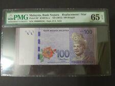 ZB 0000336 Low Number RM100 Zeti PMG 65 EPQ Malaysia