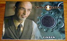 Iron Man 1 Movie Cards - Rittenhouse Costume Card Worm by Shaun Toub as Vinsen