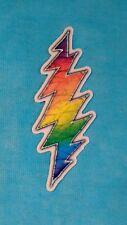 Grateful Dead Rainbow Lightning Bolt MINI 1 x 3 Inch Sticker