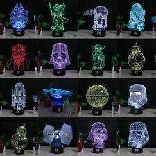 Star Wars Darth Vader 3D LED Nuit Lumière Veilleuse Lampes de Table Cadeau OEM