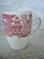 Vintage CHURCHILL Red/Pink Willow Cup / Mug - Made in England - Estate Item