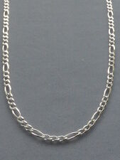 "STERLING SILVER 16""- FIGARO LINK CHAIN/NECKLACE- 3MM- 080-ITALY 925"
