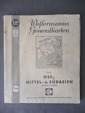 Westermanns Generalkarte Ostasien Südasien China Mandschukuo 1941