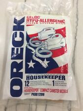12 Genuine Oreck Housekeeper Compact Canister Vacuum Bags Celoc Hypo-Allergenic