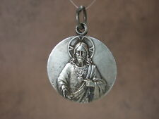 Vintage Catholic Medal ST. MARGARET MARY Sacred Heart Jesus 30mm Revillon