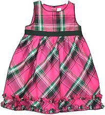 Seconds Osh Kosh Checked Party Dress Pink 12 Months
