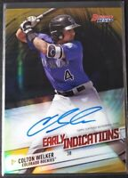 2018 Bowman's Best Colton Welker Early Indications Gold Refractor Auto #'d /50
