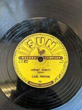 CARL PERKINS: Blue Suede Shoes / Honey Don't SUN 234 78 rpm